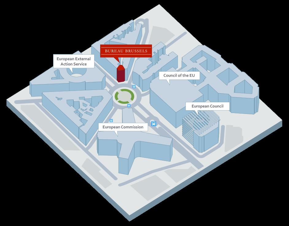 bureau brussels map